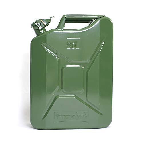 ヒューナースドルフ Hunersdorff 燃料タンク [ 安心の正規品 保証&ステッカー付 ]ポリタンク メタルキャニスター クラッシック 20L ウォータータンク 燃料 ホワイトガソリン 灯油 タンク キャニスター キャンプ (olive)