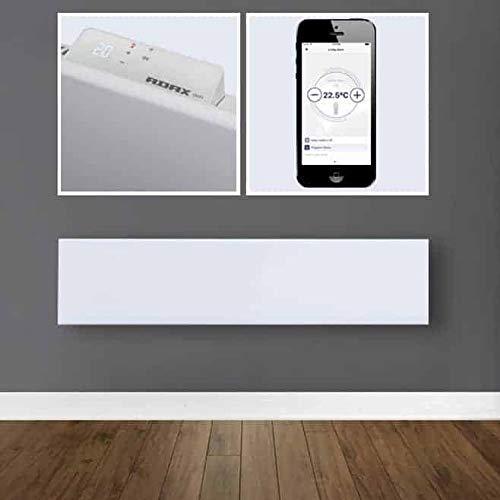 800 Watt Adax NEO Wandkonvektor mit Wifi-Thermostat H/öhe 210mm Farbe Wei/ß energiesparend