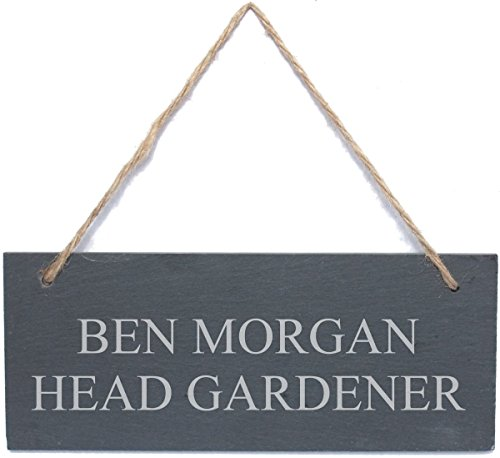 Go Find A Gift Personalised Engraved Hanging Rectangle Slate Plaque Sign - 25x10cm