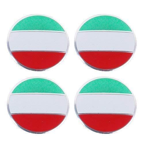 4 x ITALIEN Italy Italia Felgensticker Aufkleber Nabendeckel Nabenkappen Emblem