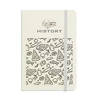 チーズマッシュルームピザ食品 歴史ノートクラシックジャーナル日記A 5