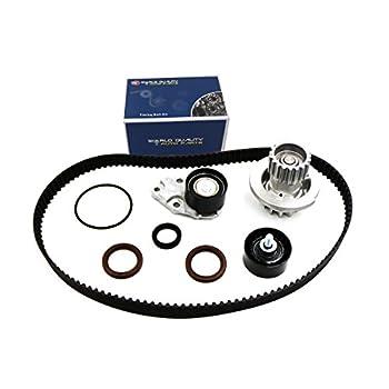 Timing Belt Kit Water Pump w/Gaskets Tensioner for 2004 2005 2006 2007 2008 Chevrolet Aveo 1.6L DOHC L4 16V