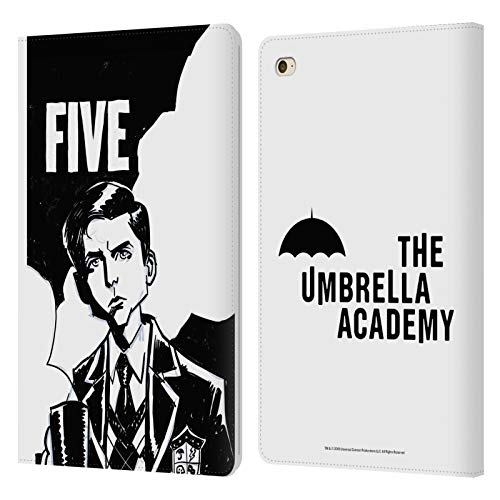 Official The Umbrella Academy Five Graphics Leather Book Wallet Case Cover Compatible For Apple iPad mini 4