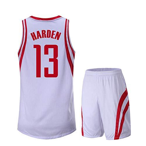 Camiseta de baloncesto juvenil de 2 piezas Rockets James Harden 13#, para hombre de baloncesto Jersey de baloncesto niños entrenamiento deportivo sin mangas camiseta unisex, Neutral, Hombre, color Negro (, tamaño 3XL
