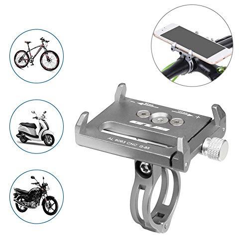 QXF-D Soporte For Teléfono De Bicicleta Universal, Ajustable Universal For Dispositivos Electrónicos De 3.6-6.2 Pulgadas Soporte De Teléfono De Bicicleta De Aleación De Aluminio Se Adapta/Bicicleta