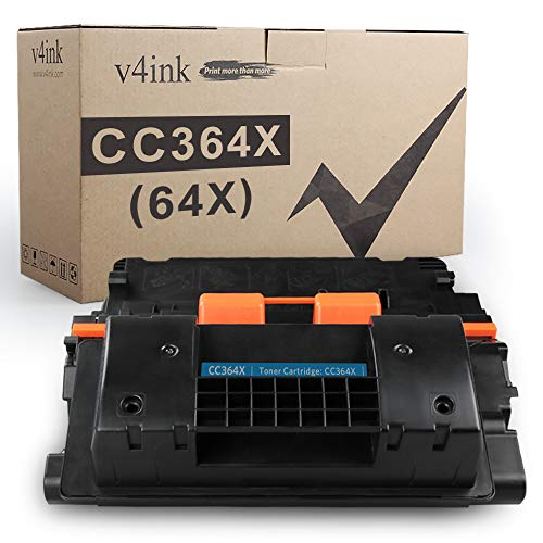 V4INK Compatible Toner Cartridge Replacement for HP CC364X 64X 64A Toner High Yield for HP LaserJet P4014 P4014n P4014dn P4015 P4015n P4015tn P4015dn P4015x P4515 P4515n P4515tn P4515x P4515xm Printer