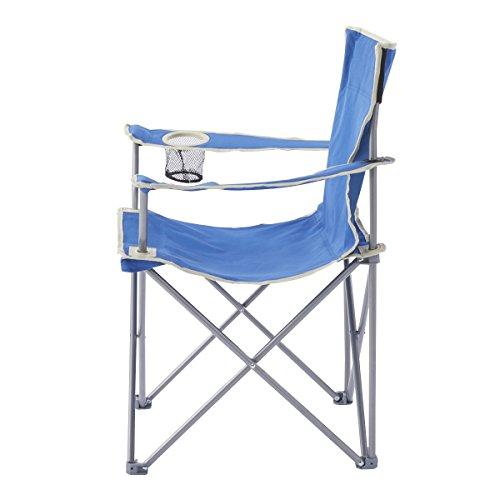 キャプテンスタッグ(CAPTAINSTAG)アウトドアチェアパレットラウンジチェアtype2マリンブルーM-3911ドリンクホルダー付折りたたみ椅子キャンプ用品