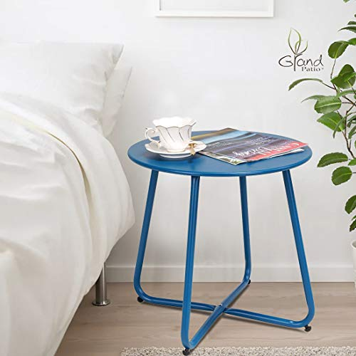 Grand Patio Metal Patio Side Table (Blue)