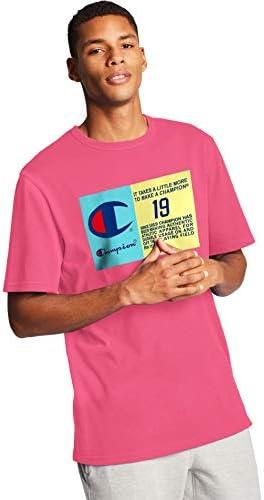 Champion Heritage Camiseta de Manga Corta Rosa para Hombre