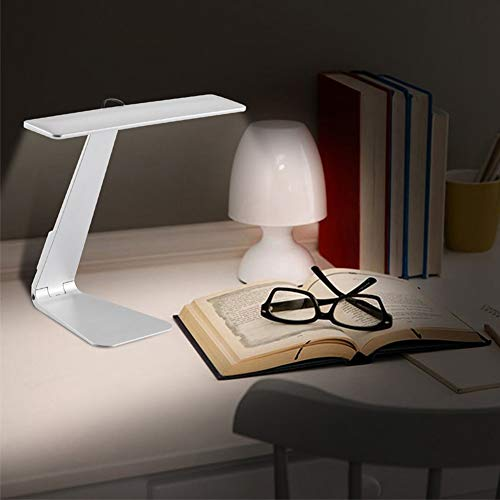 YCEOT bureaulamp, ultradun, opvouwbaar, 28 LED's, leeslamp, met touch-schakelaar, 3 modi, 800 mAh, ingebouwde accu, nachtlampje
