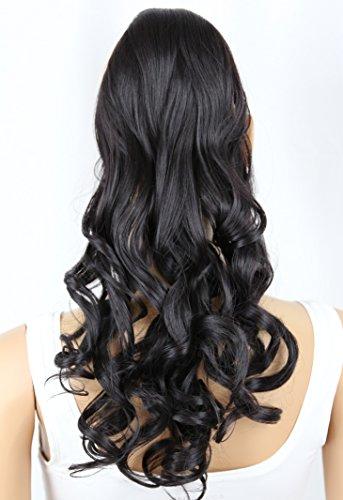 PRETTYSHOP Haarteil hairpiece Zopf Pferdeschwanz Haarverlängerung 60cm gewellt diverse Farben HC15-1
