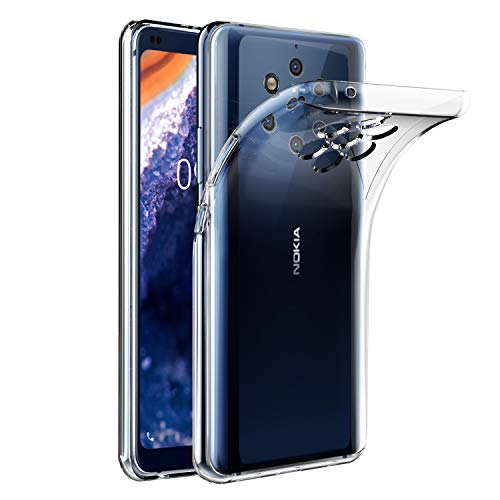 VGUARD Hülle Hülle Kompatibel für Nokia 9 PureView, Premium Transparent Tasche Schutzhülle Weiche TPU Silikon Gel Schutzhülle Hülle Cover für Nokia 9 PureView
