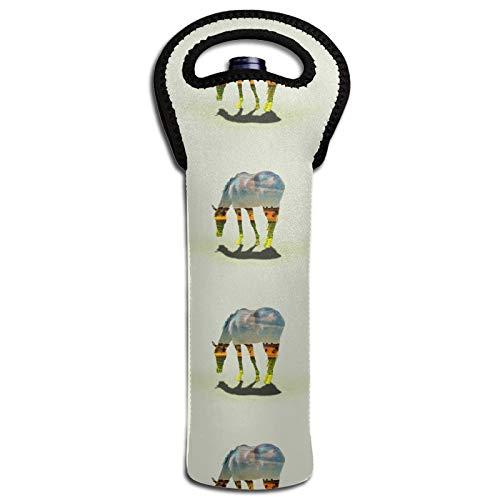 Thermoisolierende Taschen für Flaschen und Flaschen, Motiv: Landschaft mit Pferd, Dekoration