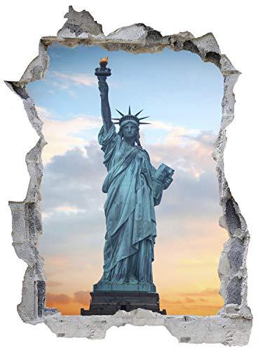 New York Freiheitsstatue Wandtattoo Wandsticker Wandaufkleber E0515 Größe 46 cm x 62 cm