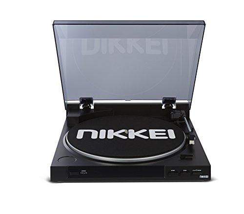 Nikkei NTT01U Plattenspieler mit integriertem Audio-Technica-Element, Schwarz