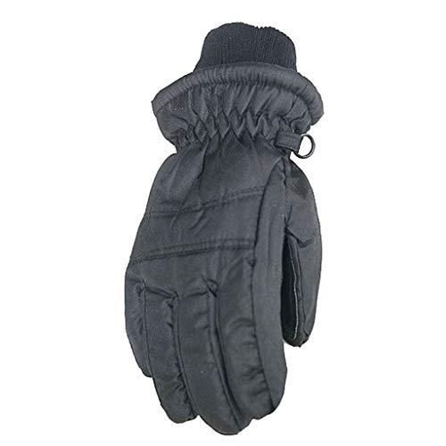SUCES Kinder Handschuhe Outdoor Skifahren Radfahren Winterhandschuhe Mädchen Jungen Winter Dicke Fäustlinge Winddichte Wasserdichte warme Kinderhandschuhe