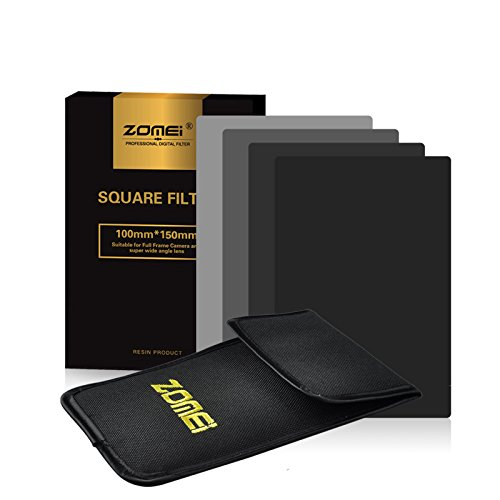 ZOMEI 150 x 100 mm Square Neutral Density Filter ND2+ND4+ND8+ND16 for Cokin Z LEE