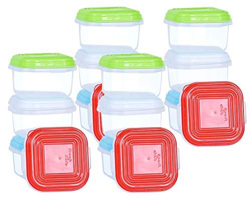 NEEZ Bebé Juegos de recipientes para Cereales Pasta, Fiambreras, Sin BPA, Almacenamiento de Alimentos, Almacenamiento y organización, Almacenamiento de Cocina y despensa (Pack of 16x120ml)
