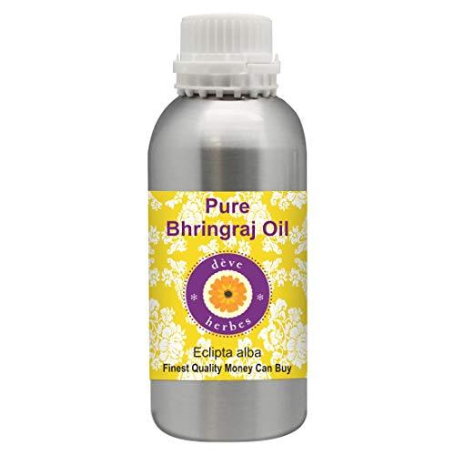 Huile de Bhringraj pure de Deve Herbes (Eclipta alba), 100% naturelle, de qualité thérapeutique 300ml (10,1 oz)
