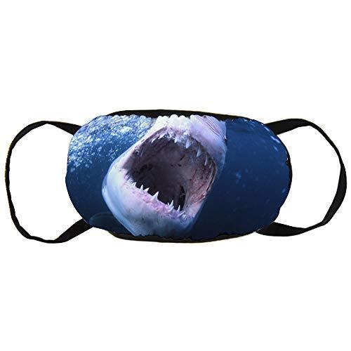 Stofvervuilingsmasker, grote haai, zwart oor puur katoen masker, geschikt voor mannen en vrouwen maskers