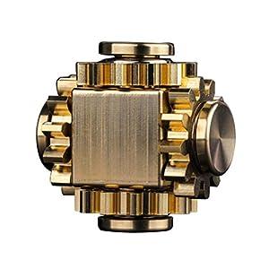 JTLB Mini Gear Metalllegierung Spinner Zappeln Spielzeug Pure Brass Fidget Cube Fidget Toys Hand Spinner Finger Fokus Spielzeug Stressabbau Geschenk