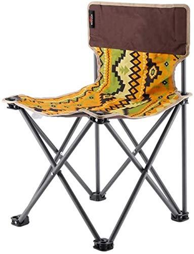 Silla del Ocio al Aire Libre, Grueso Plegable Silla de Camping Portable...