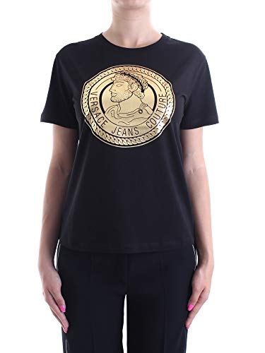 Versace Jeans Couture Lady T-Shirt Camiseta, Negro (Negro 899), X-Large para Mujer