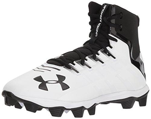 Under Armour Men's Renegade RM Football Shoe, Black (001)/White, 11