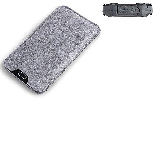 K-S-Trade Filz Schutz Hülle Für Simvalley Mobile SPT-210 Schutzhülle Filztasche Filz Tasche Hülle Sleeve Handyhülle Filzhülle Grau