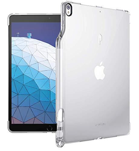 iPad Air 3 ケース (10.5 inch 2019), iPad Pro 10.5 ケース (2017), Poetic -[Lumos Series]- アップル 10.5型 アイパッド プロ 対応 [ウルトラスリム] [TPU製 ケース] Smart Keyboard 対応 Apple Pencil 収納スロット付き (クリスタルクリア)