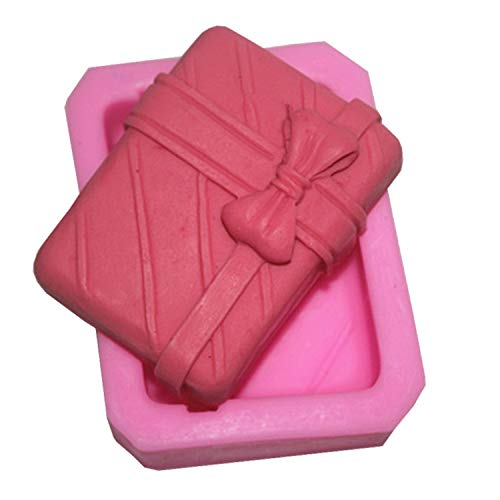 sina Geschenk-Box-Form Silikonform-Geschenk-Box Form Kuchen Backform-Geschenk-Box Form Kuchen dekorative Form-2Stück