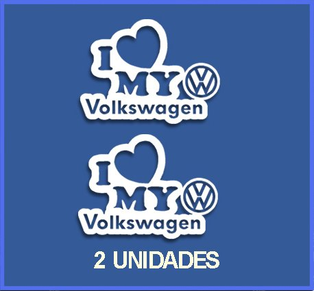 Ecoshirt 3Y-D4Z1-AUO5 Sticker I Love My Volkswagen Dr1085 Vinyl Sticker Decal Sticker Car Auto Sport Racing, Wit