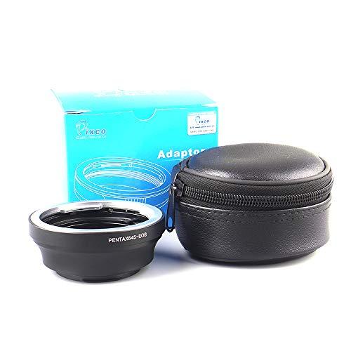 Pixco Lens Adapter Pak voor Lens naar Canon EOS Camera EOS 4000D 2000D 6D II 200D 77D 5D IV 1300D 80D 1DX II 5DS 760D 750D 7DII 1D 6D 7D, Pentax 645-Canon EOS