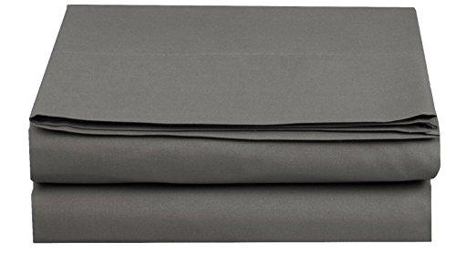 Elegant Comfort Luxury Flat Sheet on Amazon Wrinkle-Free 1500 Thread Count Egyptian Quality 1-Piece Flat Sheet, California King Size, Grey