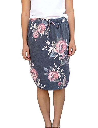 wenseny damskie spódnice do kolan ołówek spódnice elastyczne midi bodycon jednolity sznurek codzienne sukienki