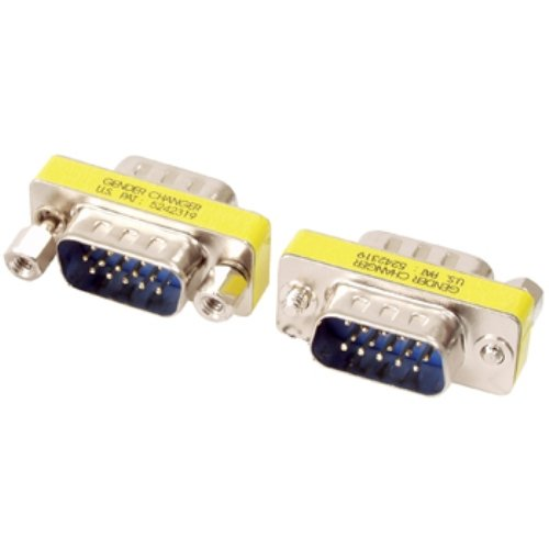 Valueline GCHD-MM15P - kabelinterface/adapter (VGA 15-pin D-Sub (M), VGA 15-pin D-Sub (M), male connector/male connector, zilver)