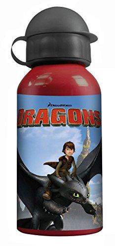 p:os 23718 Dragons Trinkflasche, Aluminium, 400 ml