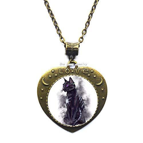 Ni36uo0qitian0ozaap Collar de gato negro Civet, collar de cristal para hombres y mujeres con colgante collar, TAP255