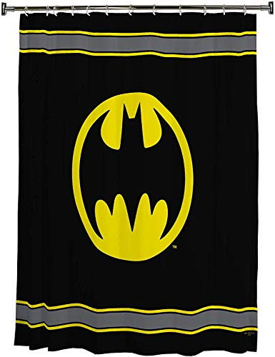 Kids Warehouse Lizenziertes Badaccessoires Shower Curtain Batman Logo