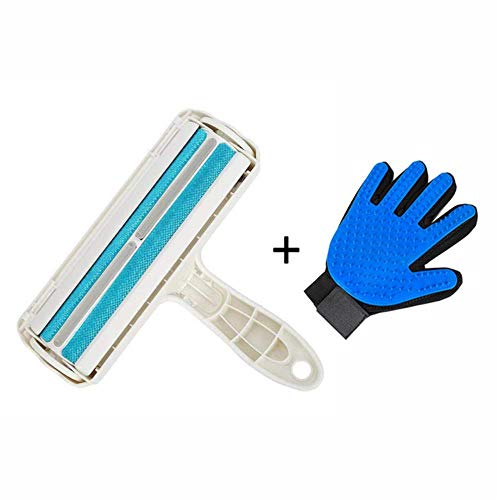YYLZJ Pet Grooming Glove 2-Way Pet Hair Remover Roller Kit Removing Dog Cat Hair from Furniture self-Cleaning Lint Pet Hair Remover,Brush Glove Right B