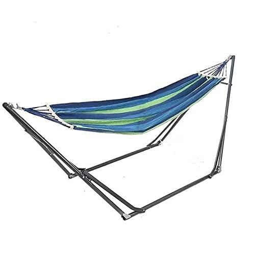 A-Generic Hamaca Ultraligera para Camping, Hamaca con Soporte Plegable, 150kg De Capacidad De Carga, Transpirable, para JardíN Patio Trasero Playa Mochileros