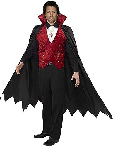 vampire Costume Größe m Black and rot