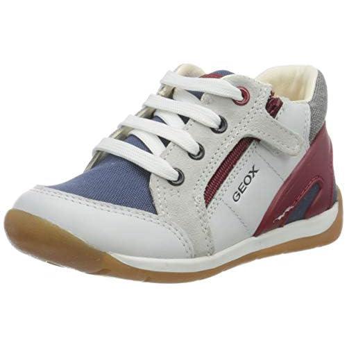 Geox B Each Boy B, Sneakers Base, Bianco (White/Navy C0899), 18 EU
