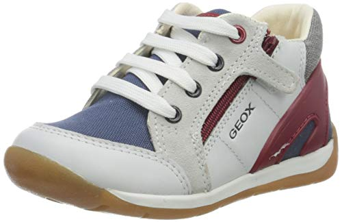 Geox B Each Boy B, Zapatillas, Blanco (White/Navy C0899), 18 EU