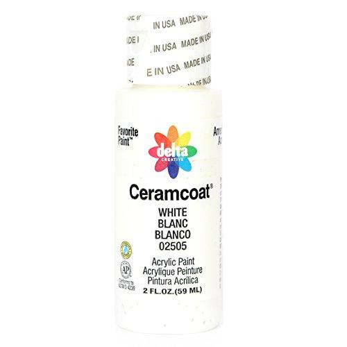 Plaid:Delta Ceramcoat Acrylique Peindre 2 onces-Blanc/Semi-Opaque