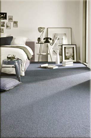 rugsx Einfarbiger Teppich Eton für Zimmer, Wohnzimmer, Schlafzimmer, Teppichboden Auslegware, Silber grau, Verschiedene Größen, 300x500 cm
