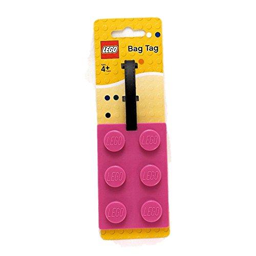 Lego Stationery Lego Brick Luggage Tag Pink