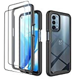 Dzxouui for Oneplus Nord N200 5G Case with 2 Pack Screen Protector,One Plus Nord N200 Case,Heavy Duty Protective Shockproof Bumper Hybrid Clear TPU Cover Phone Case for Oneplus Nord N200 5G(XK-Black)