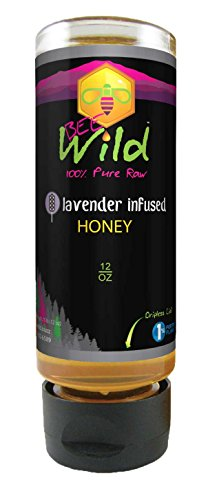 Bee Wild 100% Pure Raw Lavender Infused Honey 12 ounce (1)