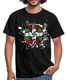 Spreadshirt Drapeau Et Croix Basque Tâches T-Shirt Homme, L, Noir